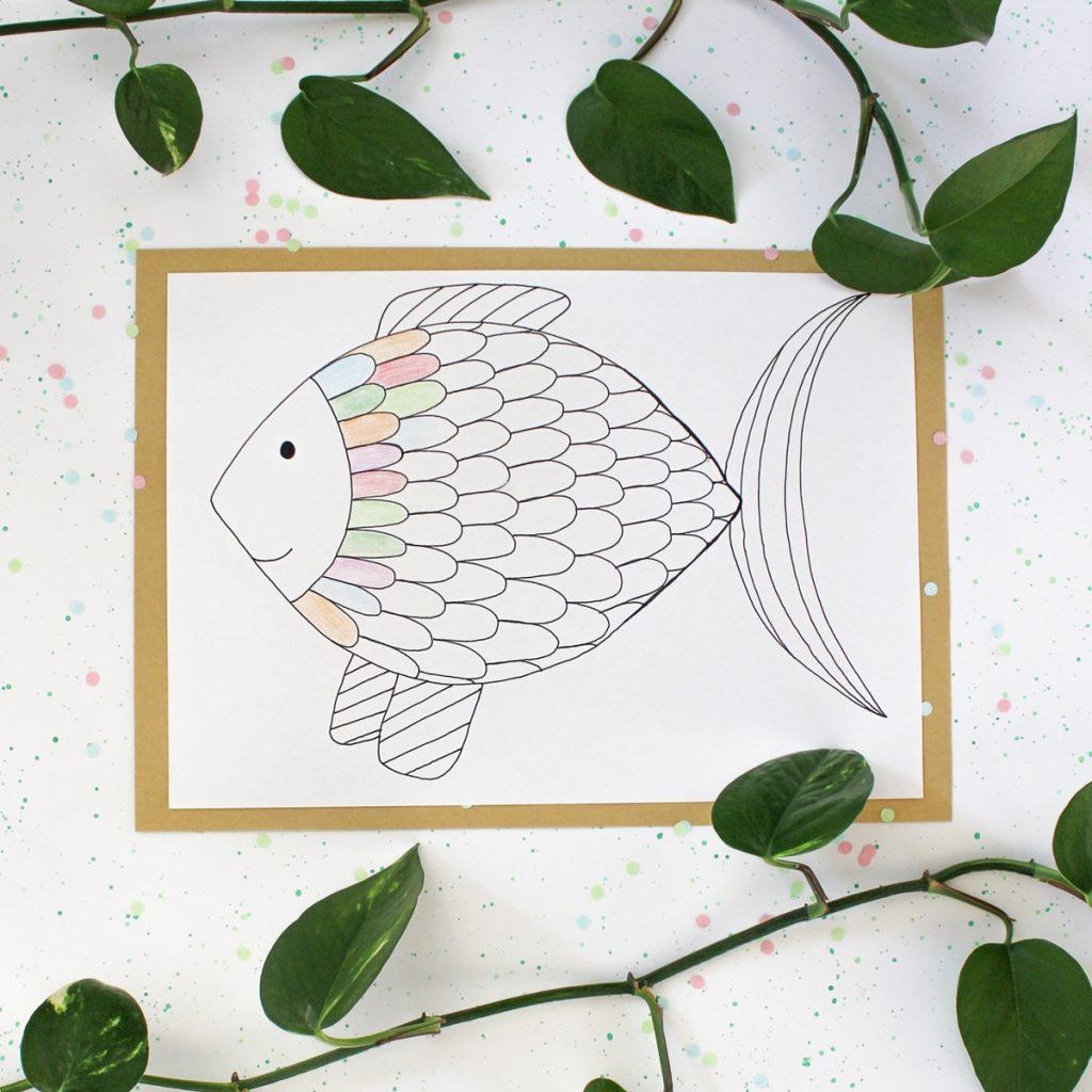 Ausmalbilder für Kinder Fisch